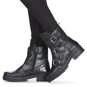 🆕NIB Made in Spain genuine leather biker boots